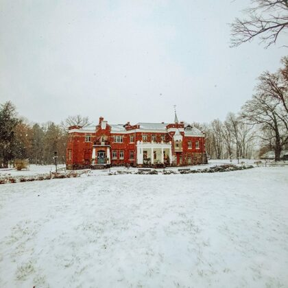 Sniega baltums un Lūznavas muiža
