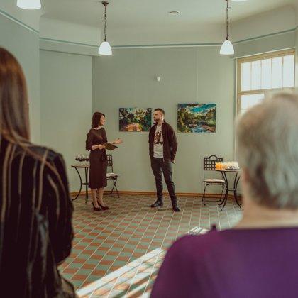 Aivja Pīzeļa izstādes MANA DABA atklāšana 09/02/2019