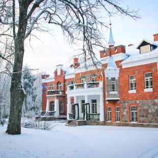 Ziema Lūznavas muižas parkā