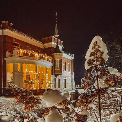 Winter evening in Luznava