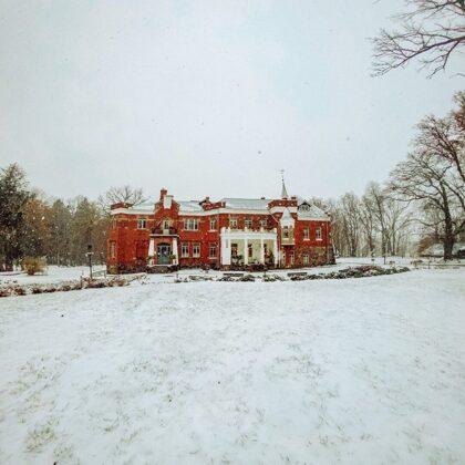 White snow and Luznava Manor