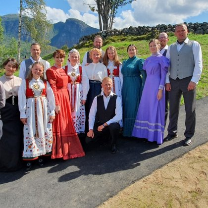 Quadrille dance group of the Luznava Manor in Norway
