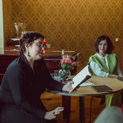 IVETA RATINĪKA.Literary talks in Luznava Manor 07/04/2019