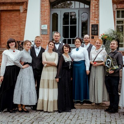 Quadrille dance group of the Luznava Manor